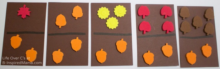 Making DIY Fall Dominos for Cool Math Games - B-Inspired Mama