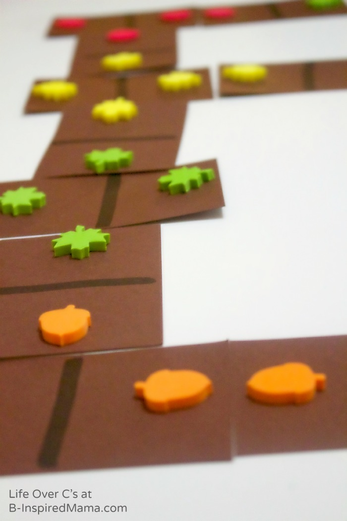 Super Fun DIY Fall Dominos for Cool Math Games - B-Inspired Mama