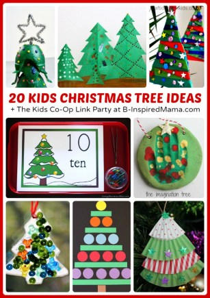 20 Christmas Tree Christmas Activities for Kids + The Kids Co-Op Link Party at B-Inspired Mama