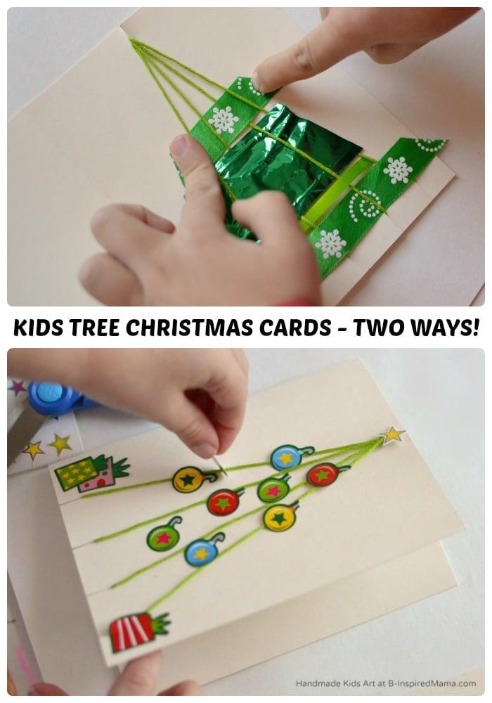 Christmas Tree Homemade Christmas Card – Two Ways!