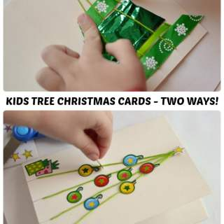 Christmas Tree Homemade Christmas Card – Two Ways!