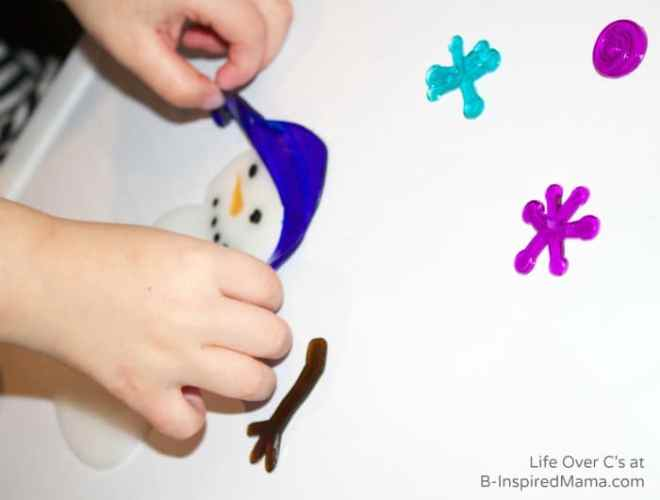 A Simple Snowman Winter Fine Motor Activity at B-Inspired Mama