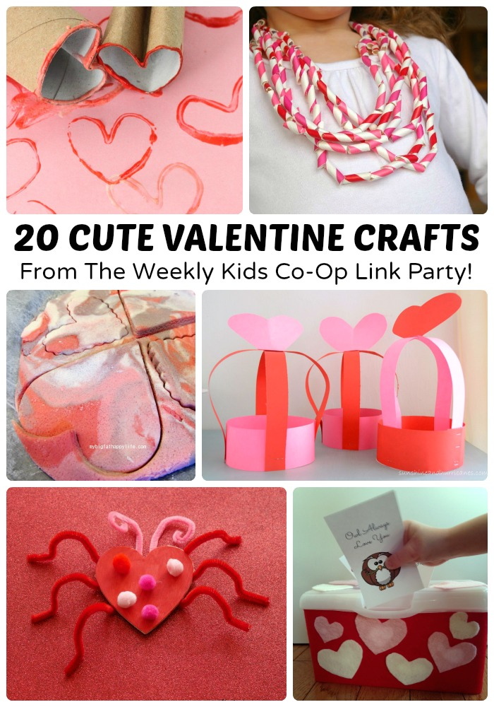 20 Cute Valentine Crafts + The Kids Co Op Link Party At B Inspired