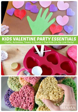 Creative Kids Valentine Party Ideas + The Kids Co-Op Link Party at B-Inspired Mama