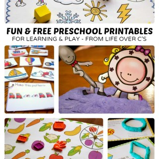 Preschool Printables from Life Over C's