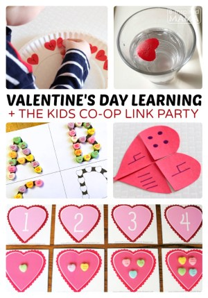 Valentine's Day Early Learning Ideas + The Kids Co-Op Link Party at B-Inspired Mama