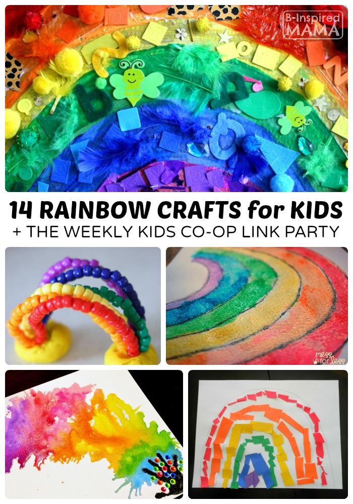 14 Colorful Rainbow Crafts for Kids | B-Inspired Mama
