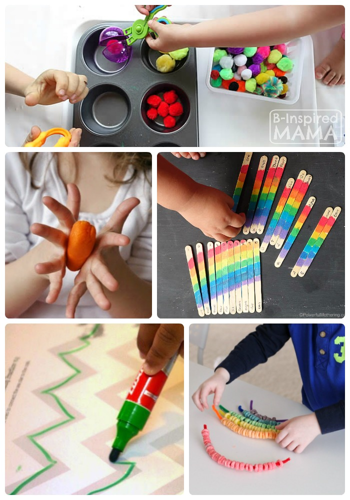 Fun Fine Motor Activities for Kids + The Kids Co-Op Link Party at B-Inspired Mama