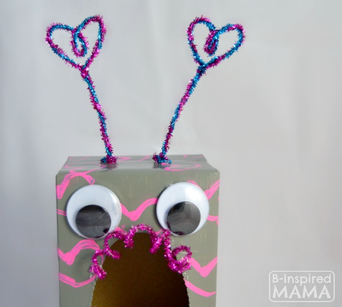 How to Make a Valentine Box Robot - A Closeup - B-Inspired Mama