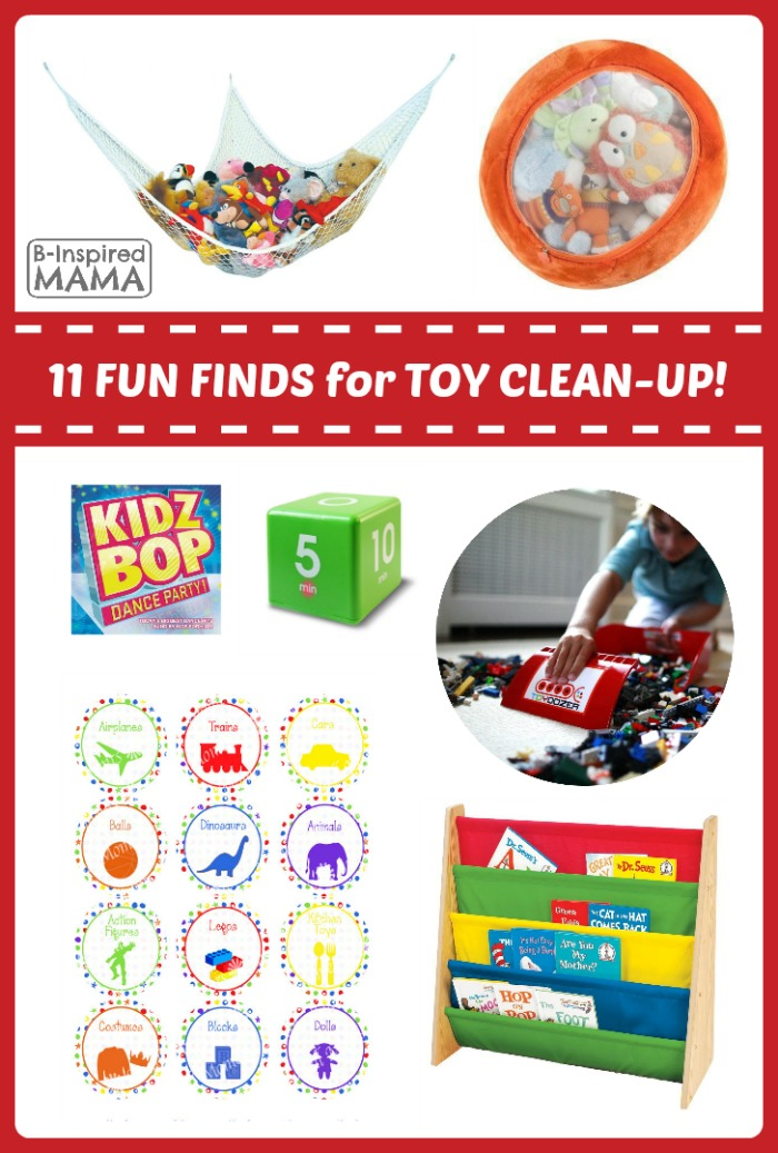 11 Fun Finds to Help Children Clean Up Toys at Fun Finds Friday at B-Inspired Mama