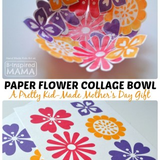 Paper Flower Bowl Mother's Day Craft