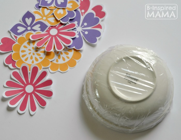 Making a Paper Flower Bowl Mother's Day Craft at B-Inspired Mama