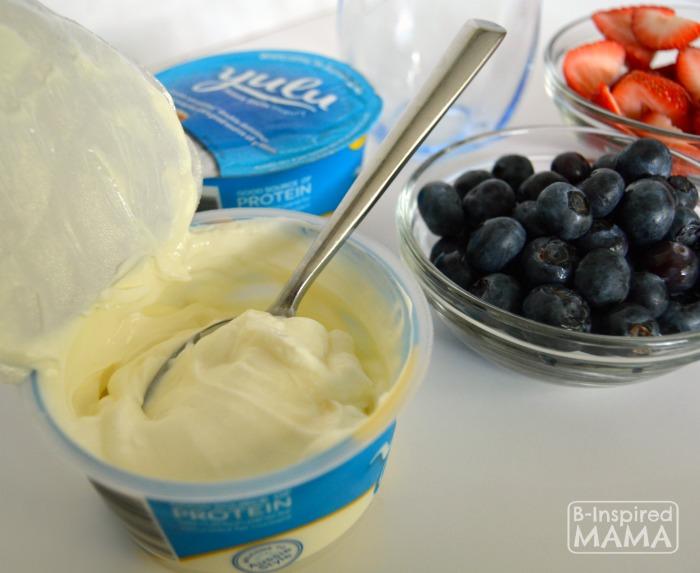 A Simple Patriotic Yogurt Parfait - Yummy Yulu Yogurt - B-Inspired Mama