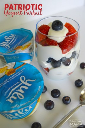 Simple Patriotic Yogurt Parfait - Perfect for Kids to Make for Memorial Day or the 4th of July - B-Inspired Mama