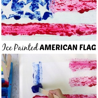 Ice Paint American Flag Craft