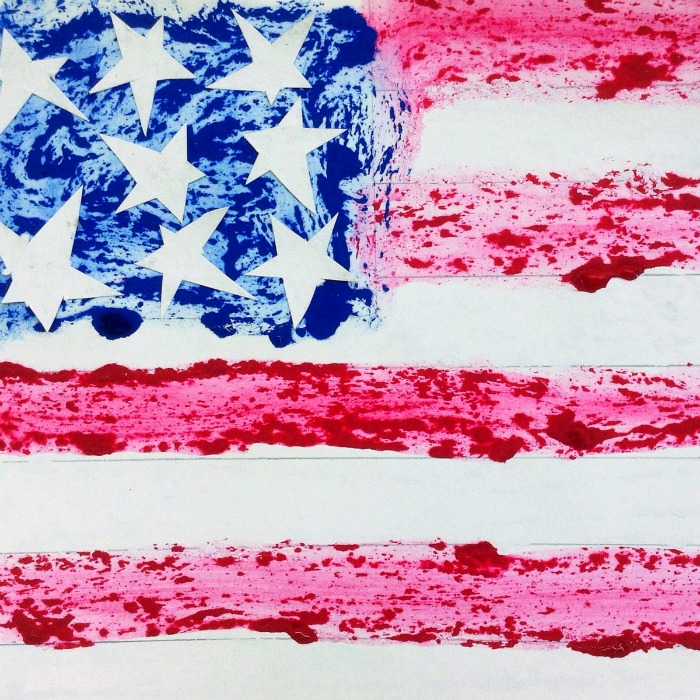 An Ice Paint American Flag Craft - Perfect for the 4th of July - B-Inspired Mama