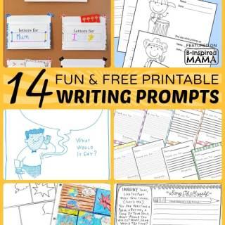 14+ Fun Printable Writing Prompts for Kids