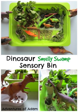Dinosaur Smelly Swamp Sensory Bin