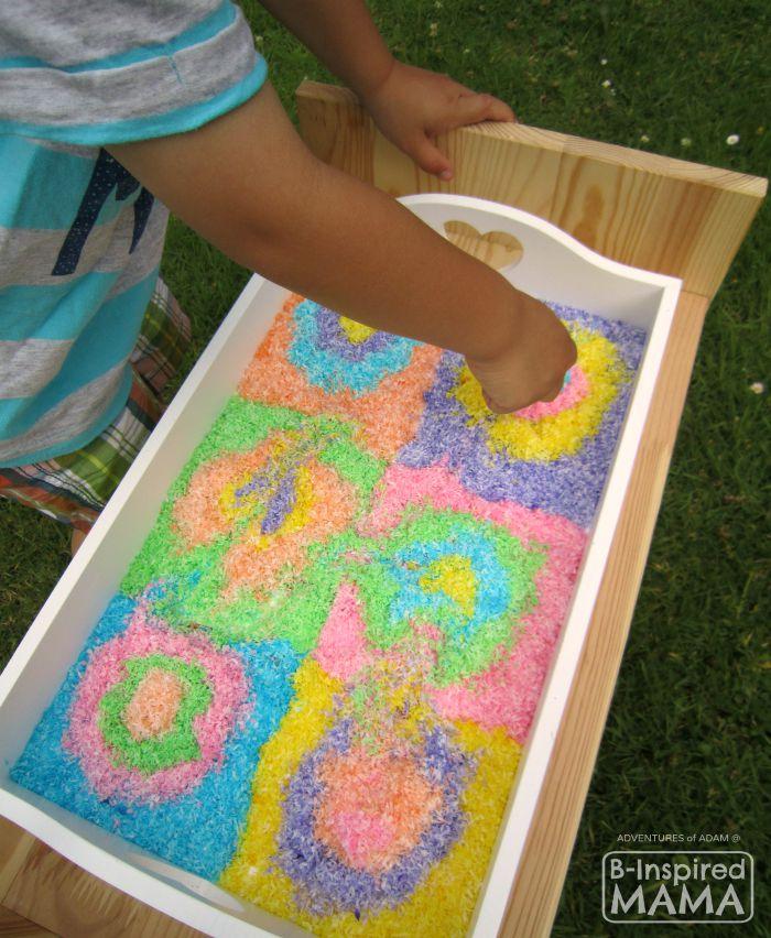 Edible Kandinsky-Inspired Sensory Bin - Fun Art History Sensory Play - B-Inspired Mama