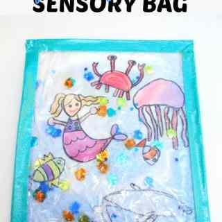 Sparkly Ocean Sensory Bag