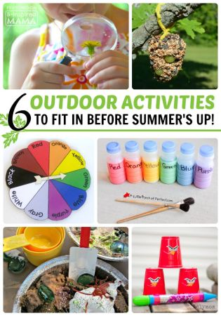 6 Awesome Outdoor Activities to Fit In before Summer's Over - at B-Inspired Mama