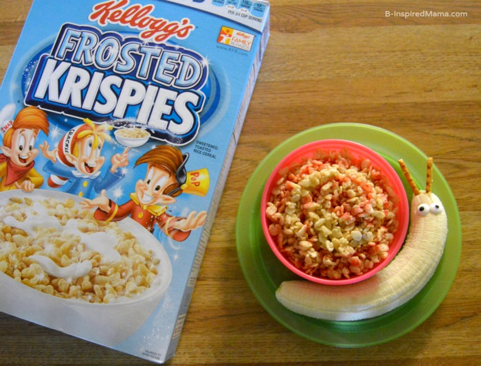 A Silly Cereal Snail to Make Breakfast Fun for the Kids - Sponsored by Rice Krispies - B-Inspired Mama