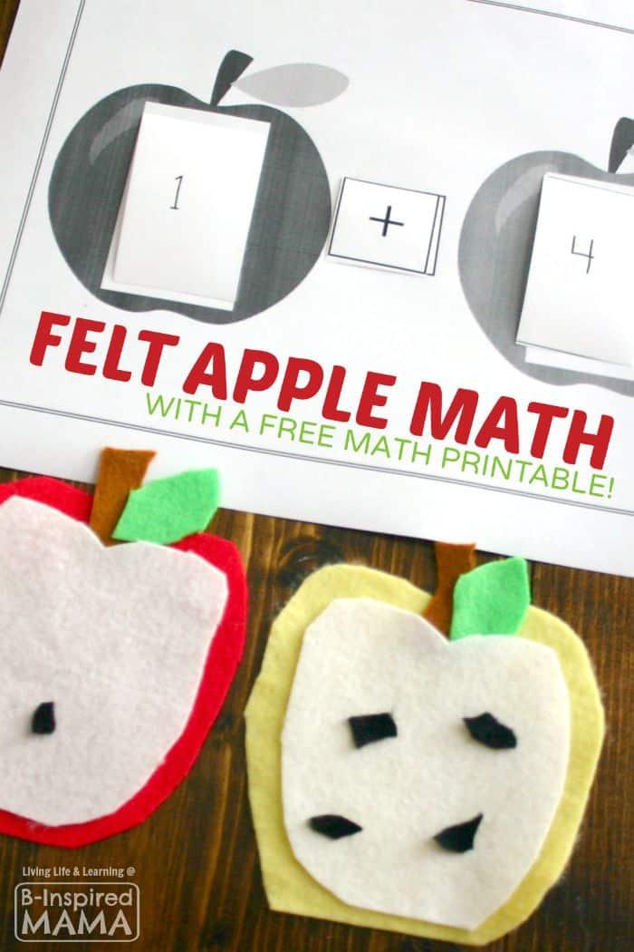 A Hands-On Felt Apple Math Activity