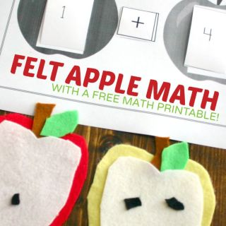 A Hands-On Felt Apple Math Activity