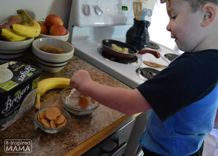 J.C. helping to make our Ice Cream Banana Pudding - B-Inspired Mama