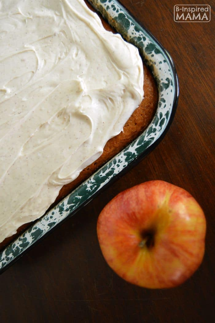 Kid-Friendly Apple Spice Cake Recipe - With Cinnamon Cream Cheese Frosting - B-Inspired Mama