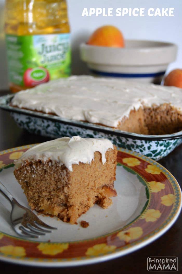 Kid Friendly Apple Spice Cake Recipe at B-Inspired Mama