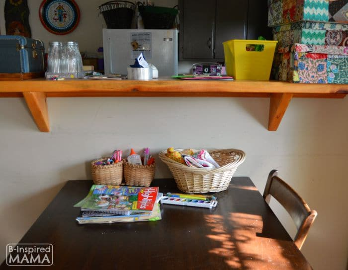 Small Home Homework Zone - Before Shot - B-Inspired Mama