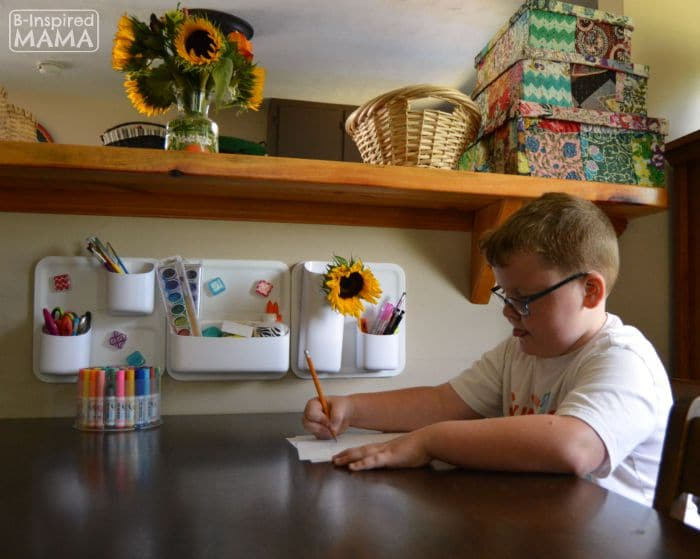 Small Home Homework Zone - Sawyer Writing - B-Inspired Mama
