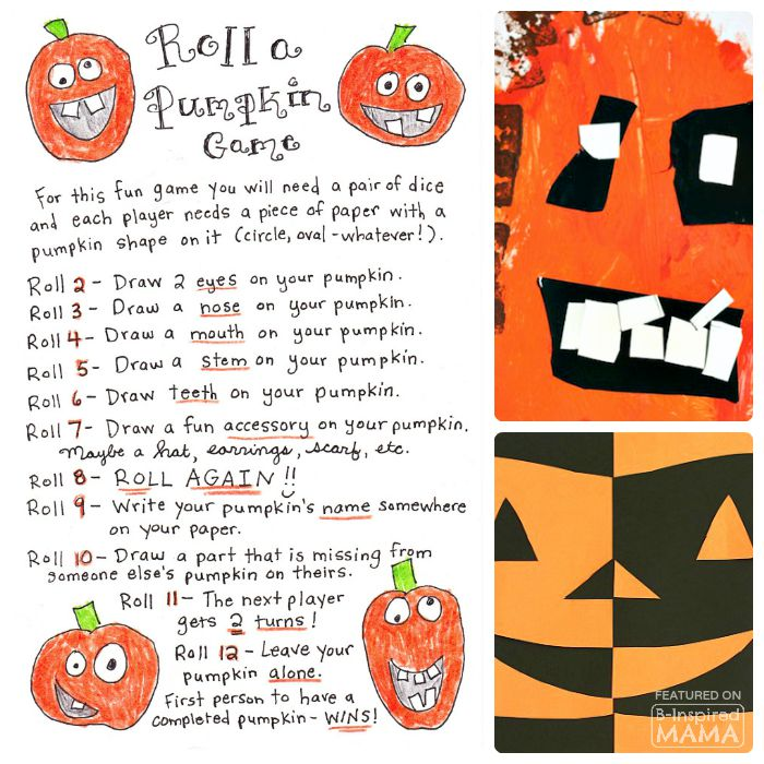 Creative Pumpkin Themed Art for Kids - Freatured at B-Inspired Mama