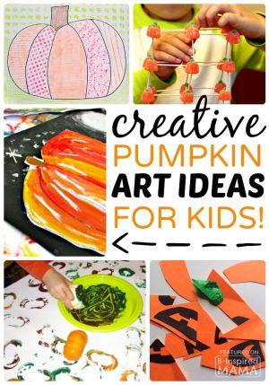 Creative Pumpkin Themed Art for Kids at B-Inspired Mama