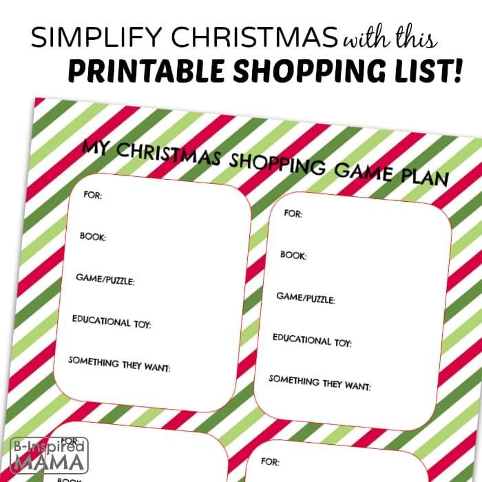 christmas list printable