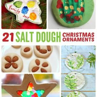 Homemade Christmas Ornaments using Salt Dough