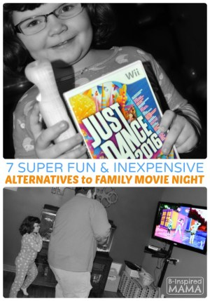 7 Super Fun Alternatives to Family Movie Night - Perfect for the Holiday Season - at B-Inspired Mama