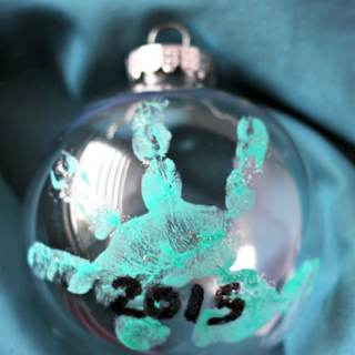 Sweet Homemade Handprint Ornament