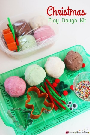DIY Christmas Playdough Kit