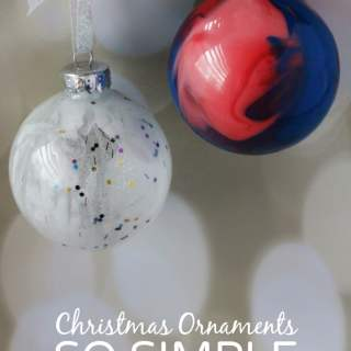 Simple Pour Painted Homemade Christmas Ornaments