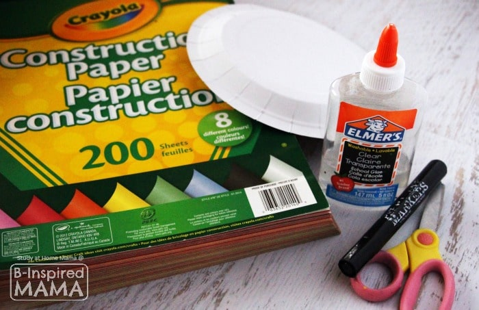 Materials for the Hand Wreath Christmas Ornament Craft - at B-Inspired Mama
