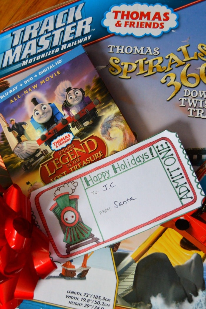 The Best Thomas the Train Gift + A Printable Train Ticket Holiday Gift Tag at B-Inspired Mama
