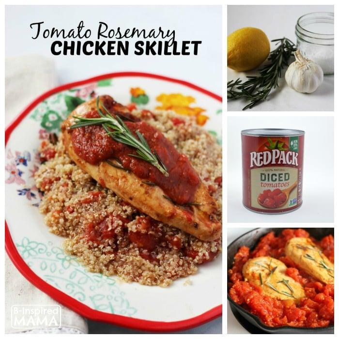 Delicious Skillet Tomato Rosemary Chicken Recipe