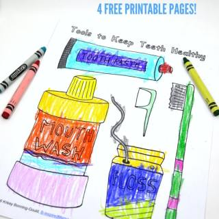 Free Dental Coloring Pages for Kids