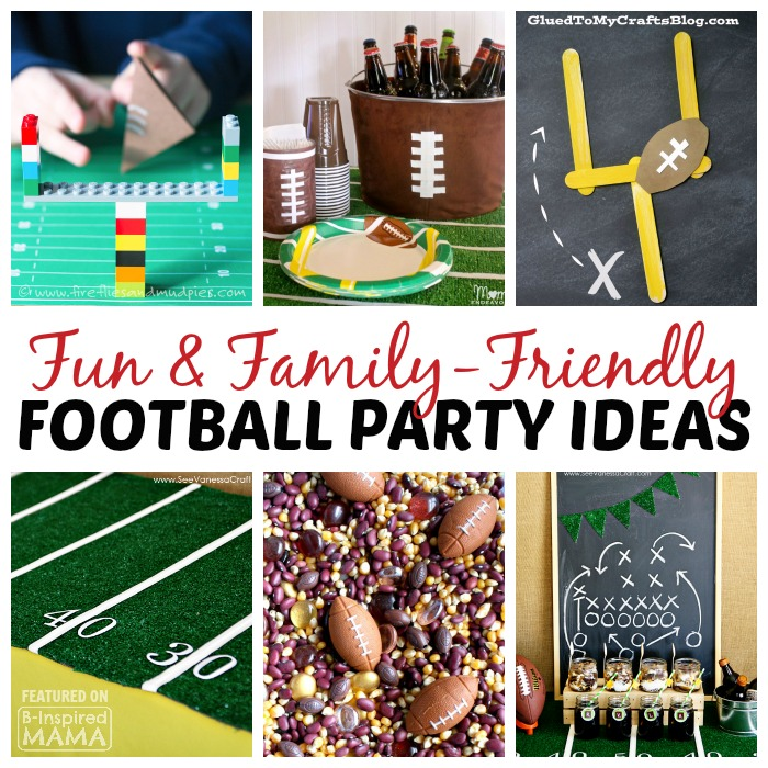 9 Family Friendly Football Game Day Party Ideas - at B-Inspired Mama