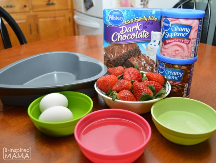 Easy Dark Chocolate Strawberry Brownies for Your Valentine - Ingredients - B-Inspired Mama