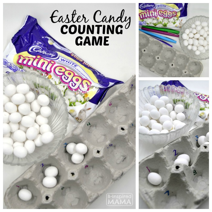 Easy Easter Candy Counting Game for Kids - at B-Inspired Mama