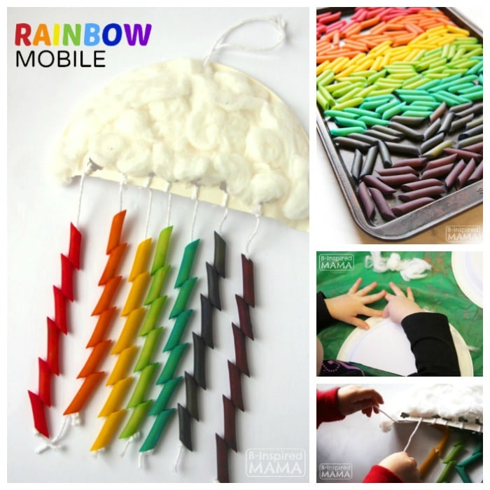 Rainbow Mobile Craft for Kids at B-Inspired Mama