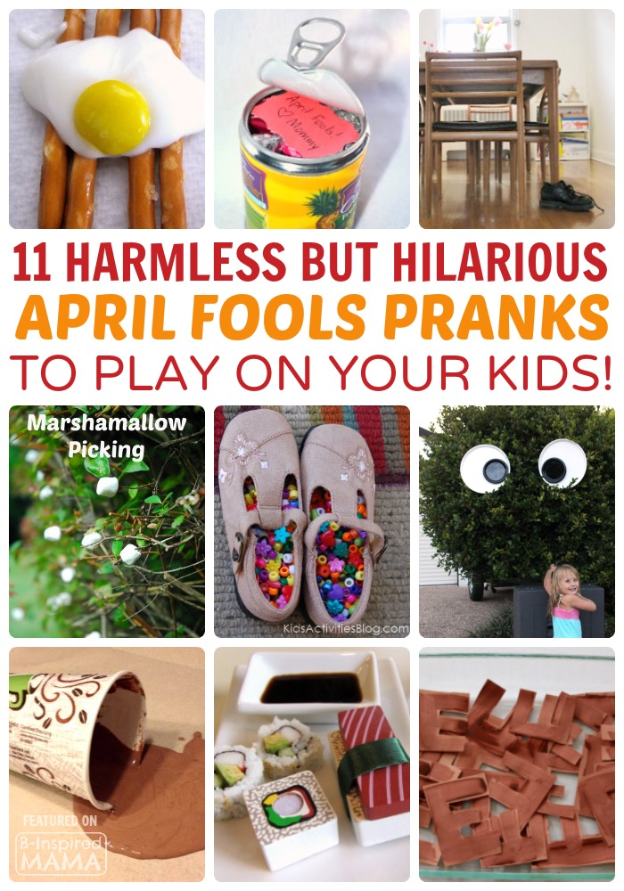 11 Harmless But Funny Pranks to Play on Your Kids this April Fools Day